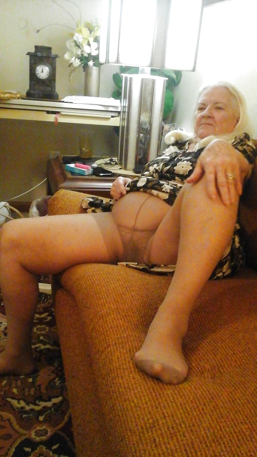 pantyhose pictures Grandmother masturbate