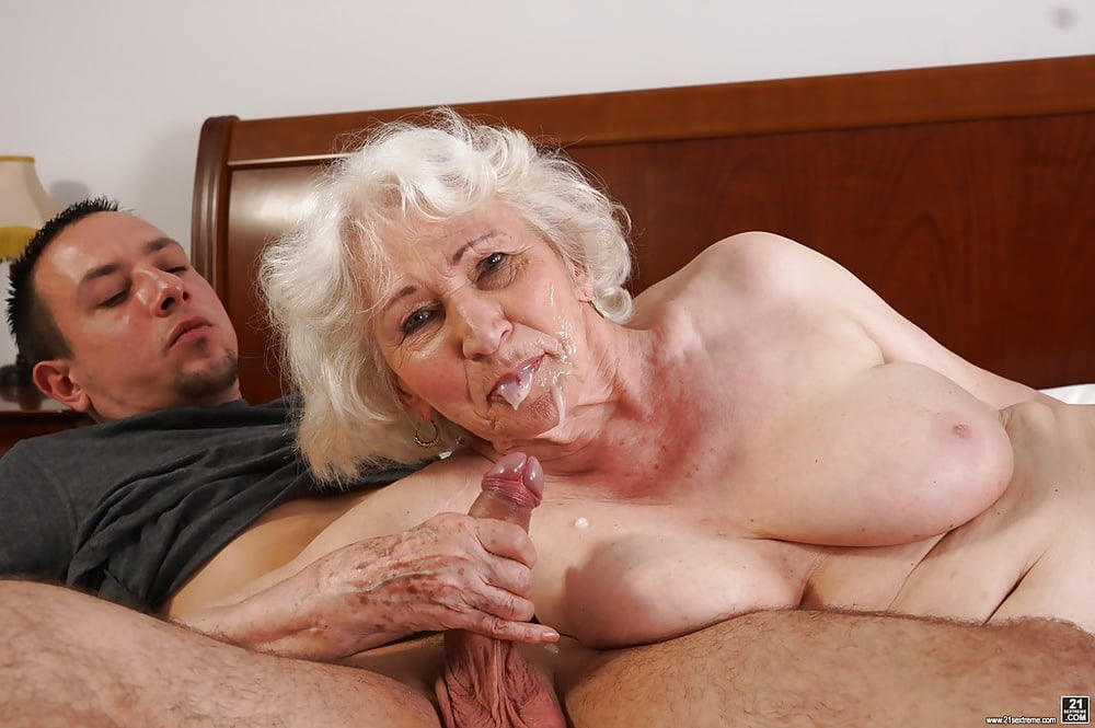 Youthful Man Eats Cunt And Tiny Ginger Granny But To His Surprise 1