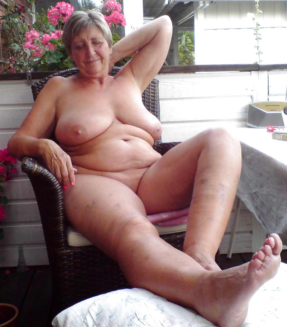 Mature female naturists
