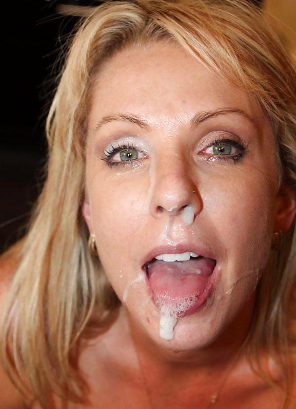 Gabby nude cum on her face