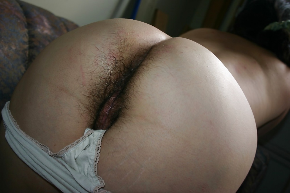 Something is. hairy pussy panties down ass