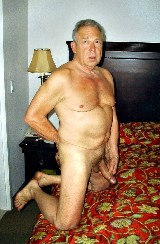Very old nude grandpa hung