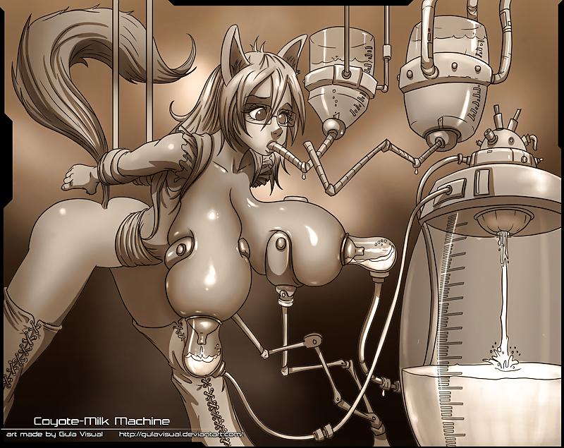Massive hentai tits milking