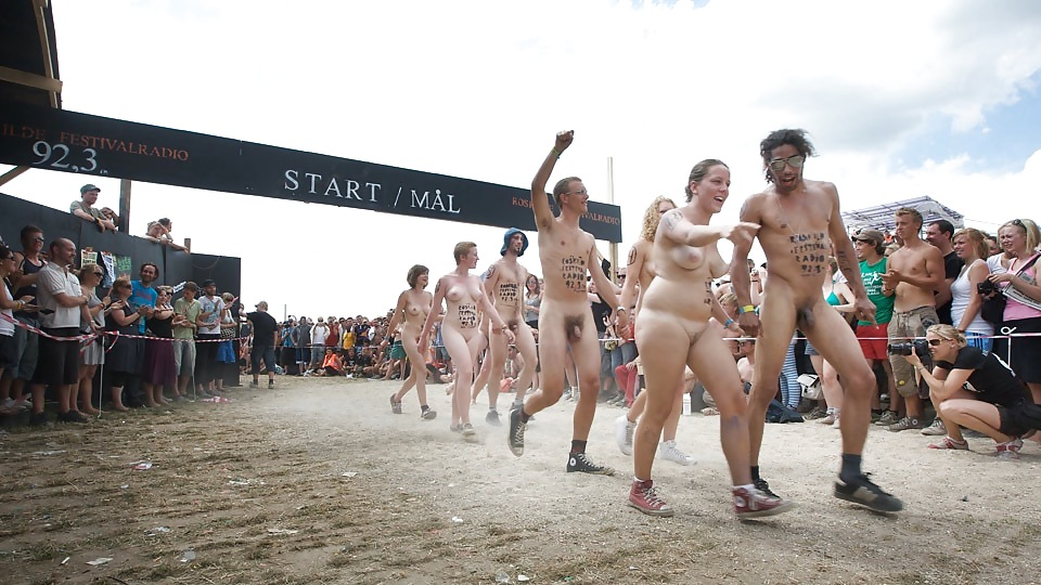 Wank race naked suntan girls
