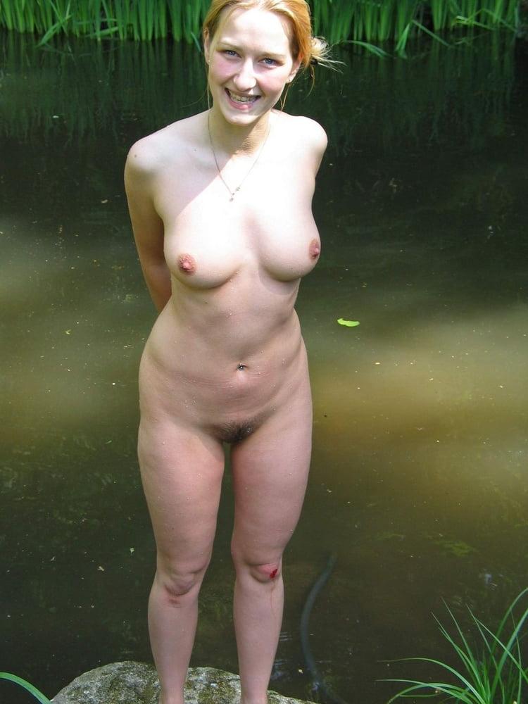 Cute milf nude outdoors
