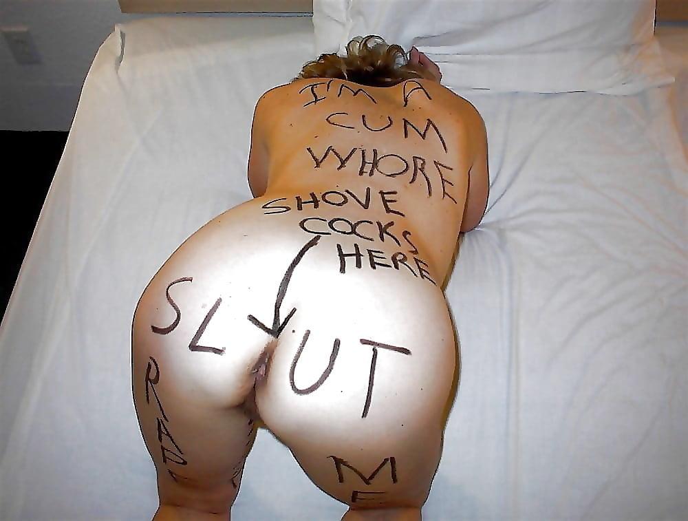 Writes on her slut, porn porny