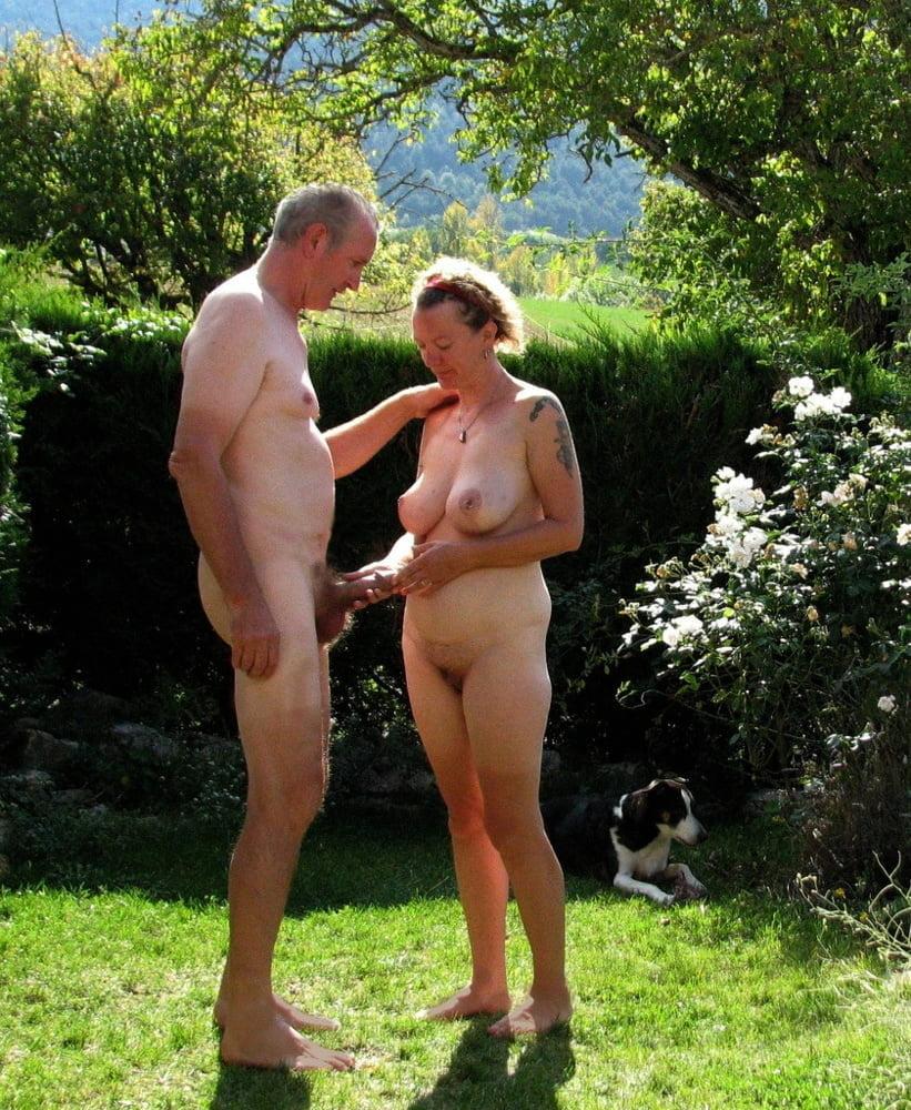 Nude mature black couple