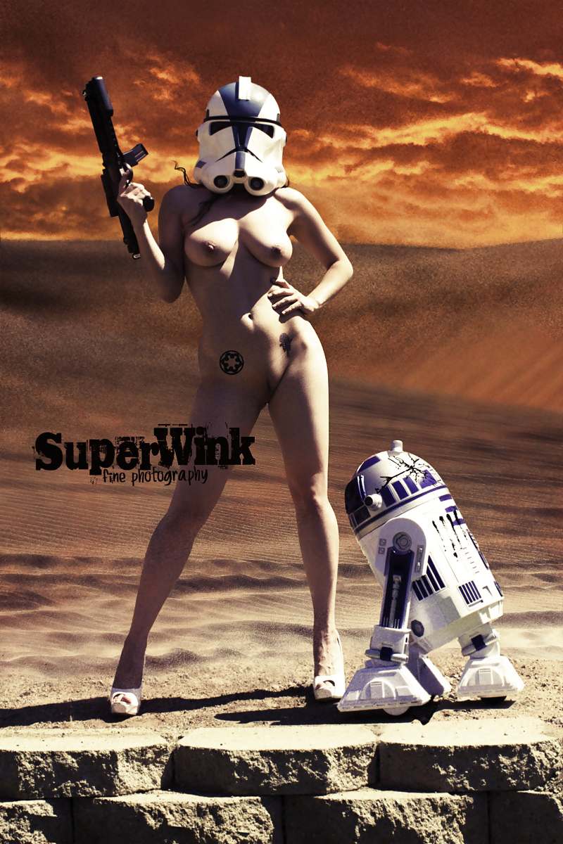 Sexy starwars girl naked, very busty full figured nude