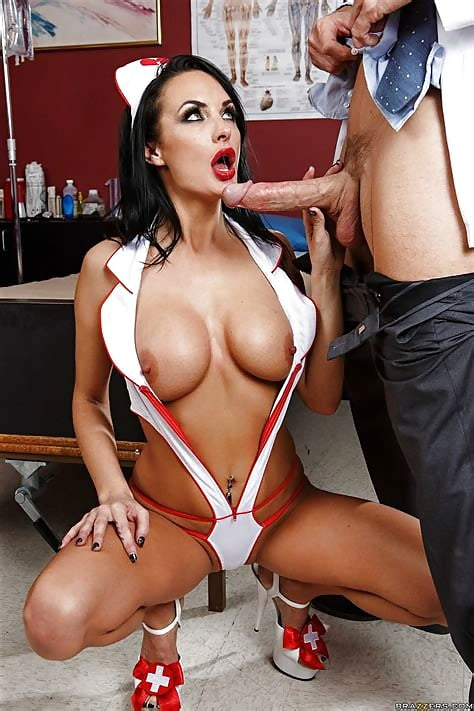 Naughty Nurse Brunette Fucking A Dude In Waitin Babesmachine 1