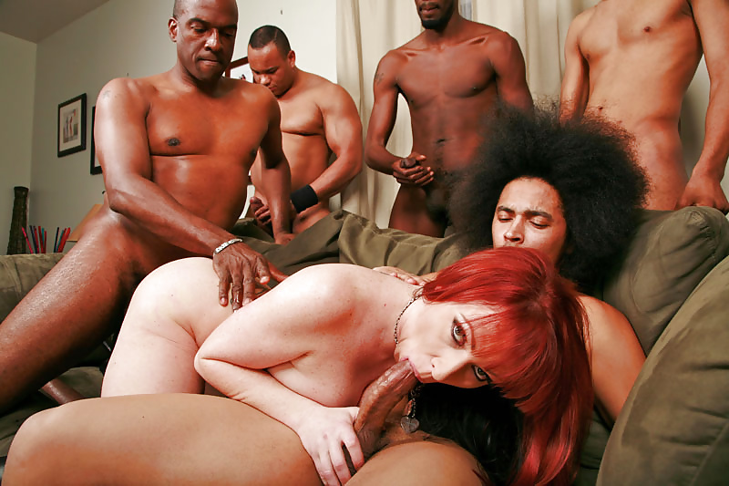 Rough interracial mature gangbang, girls panties nipples stripped
