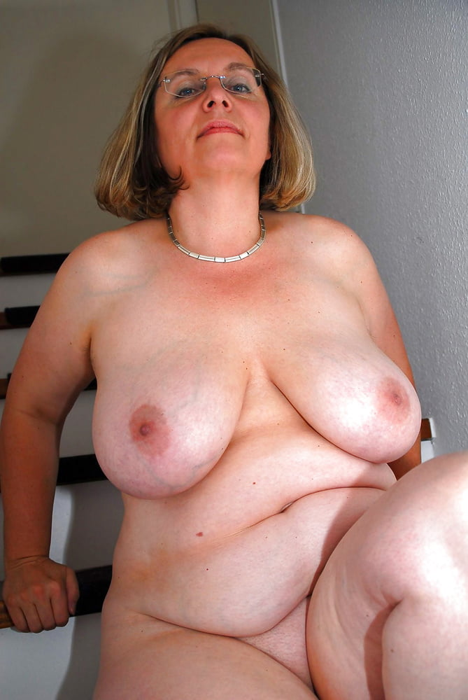 Fat tits old mom