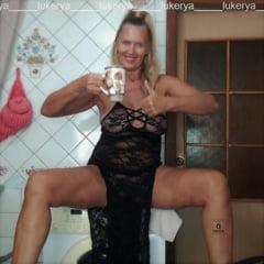 Lukerya In The Kitchen In Black Lace
