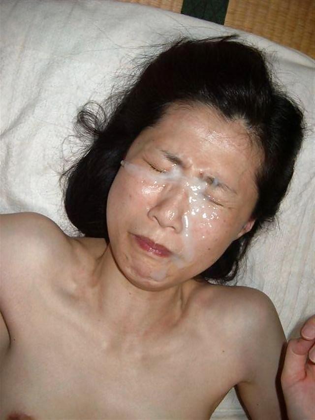Homemade amateur asian facial