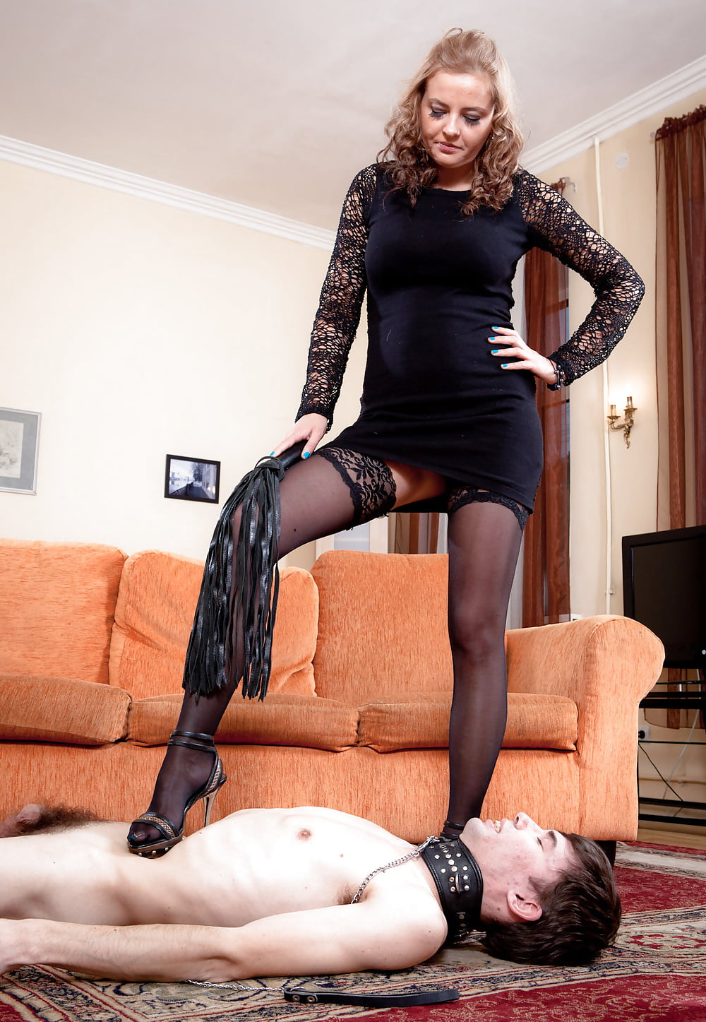 Femdom and nylons and video, th three on one nude lesbians