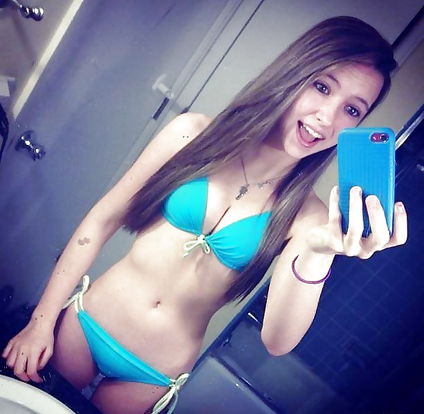 Asian porn teen bikini selfie naked striping