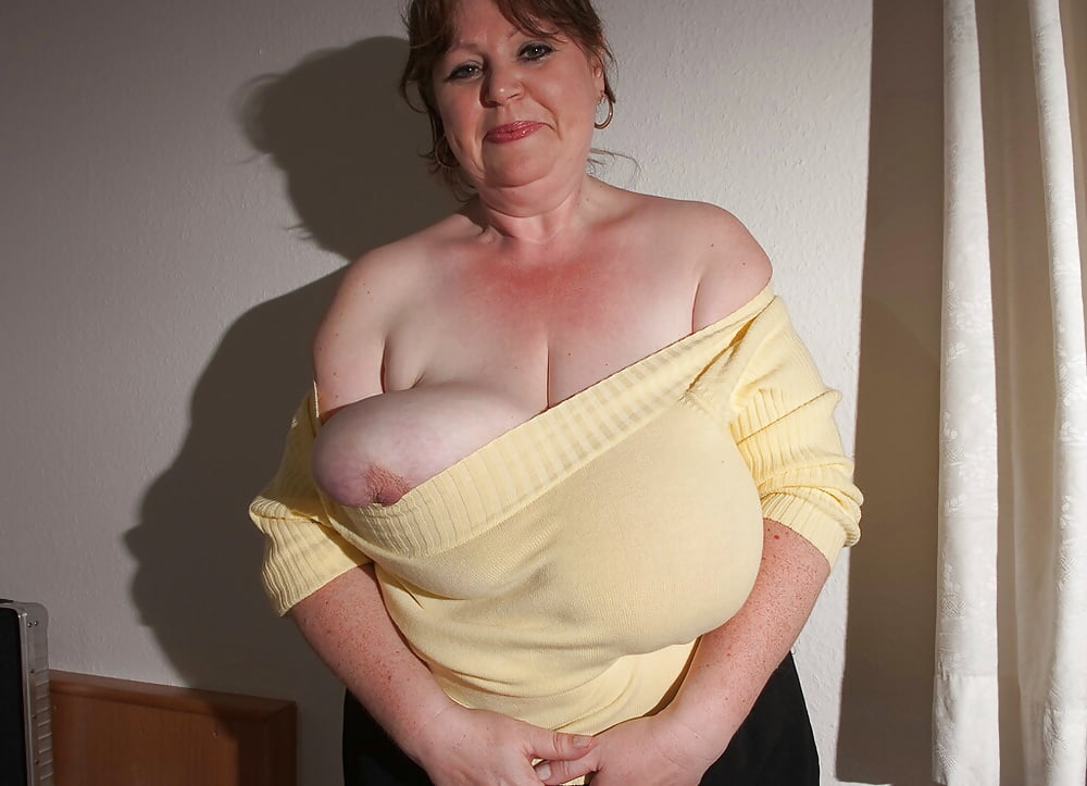Grandmother with big breasts