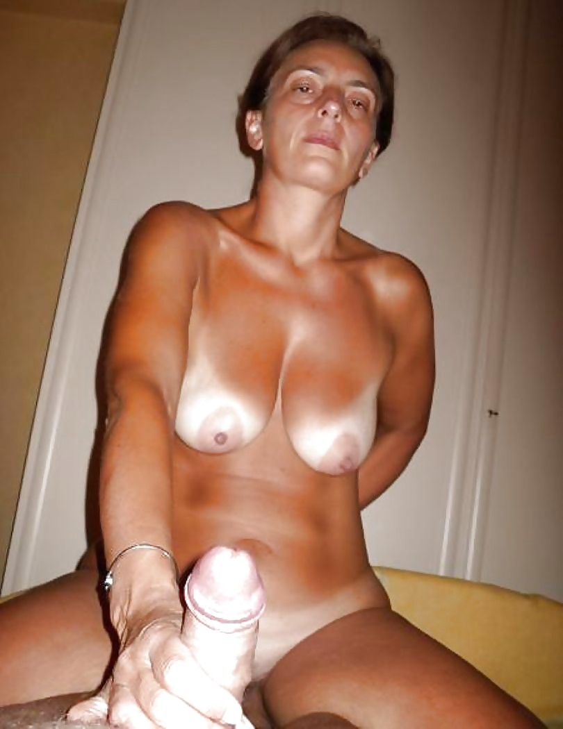 Busty girl with tan lines fucked in the amateur photo