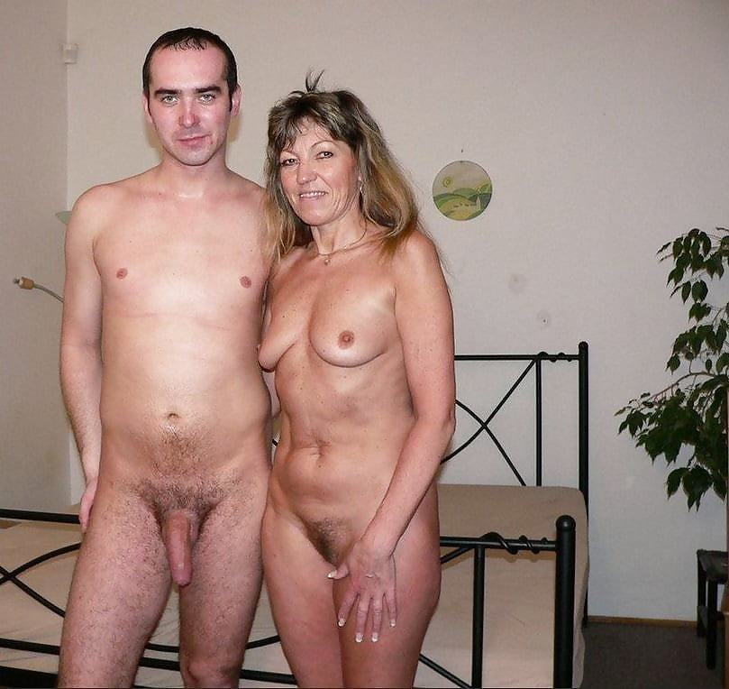 Older man young woman nude