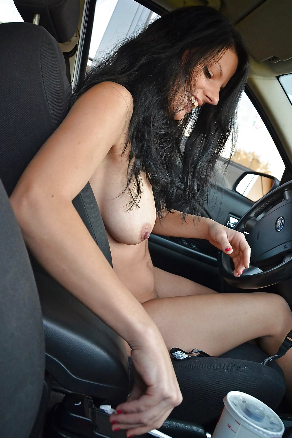 Nude in drive thru, hot guy giving blowjobs gif