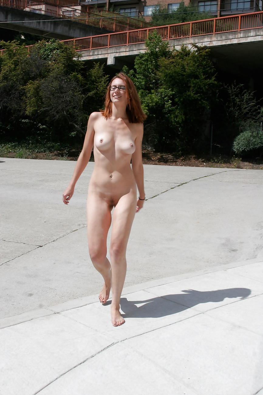 Walks around naked