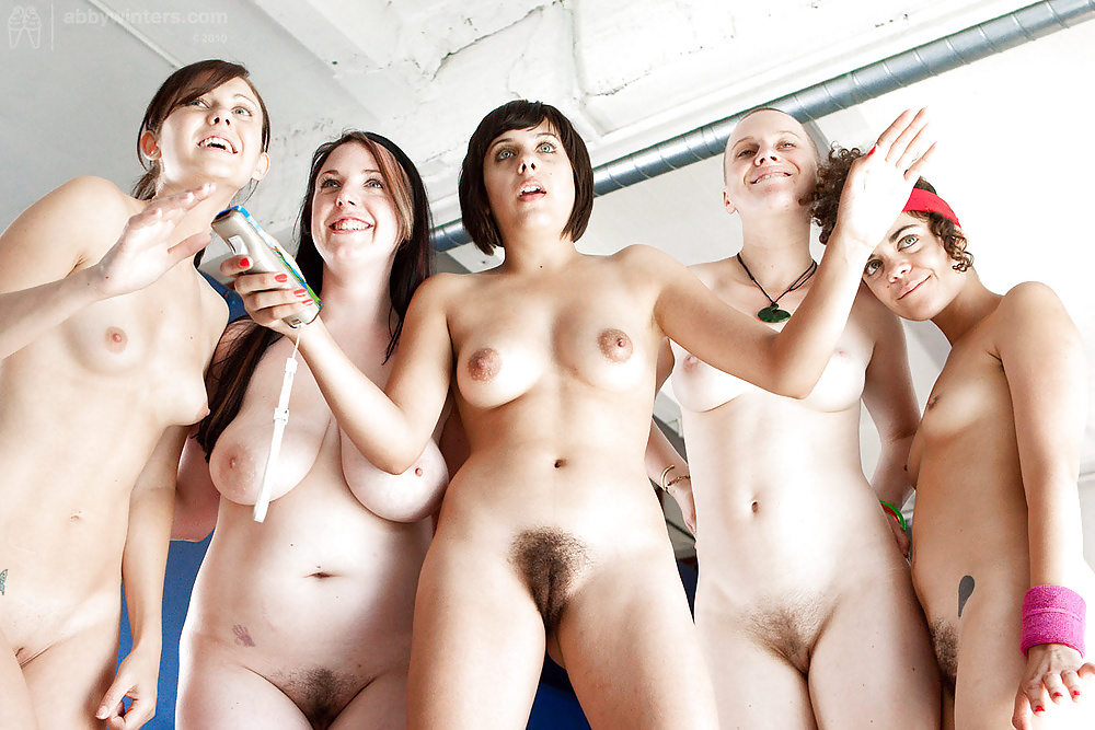 Nude women playing in a band, sexy hot girls hand pussy