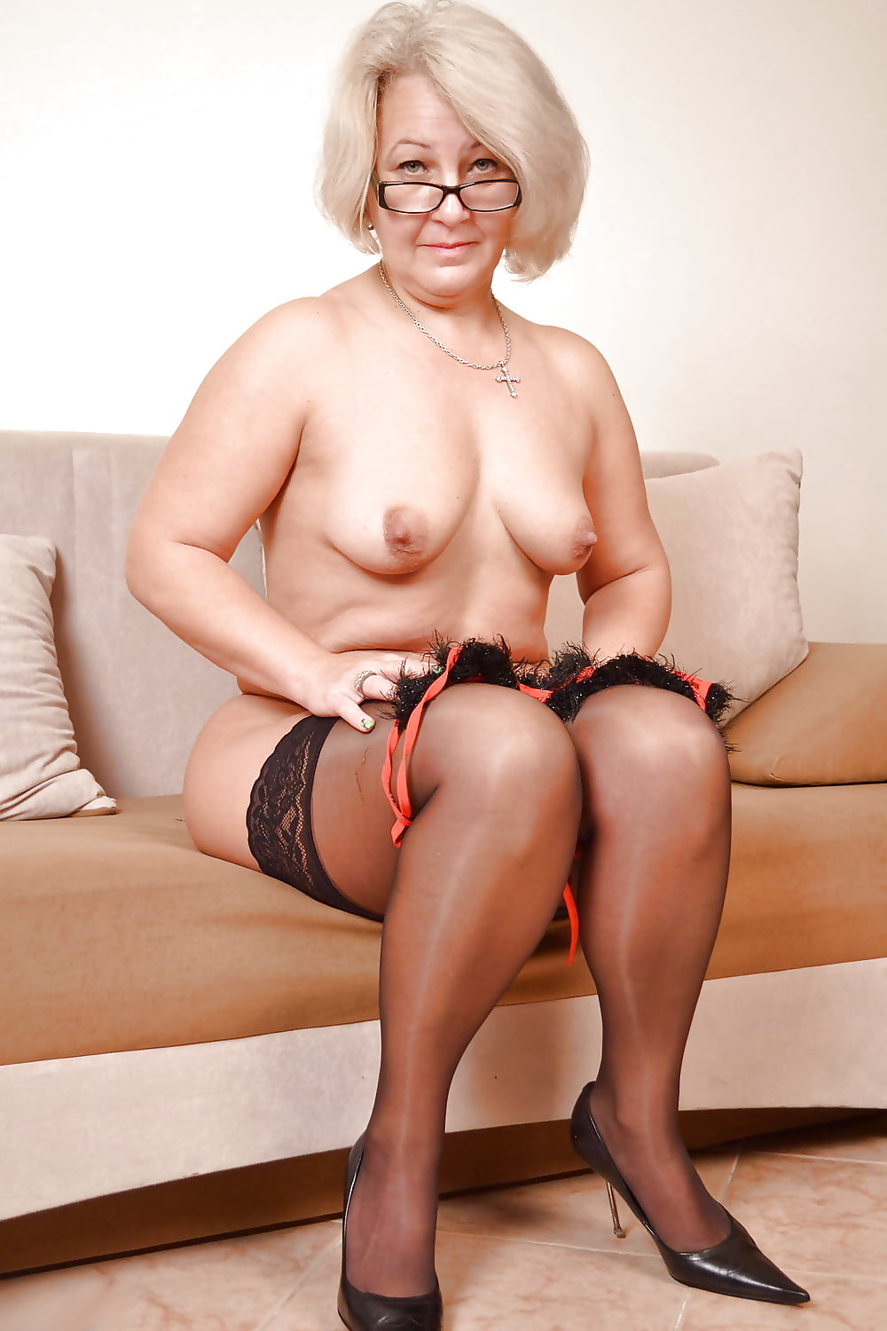 Stocking grandma nude