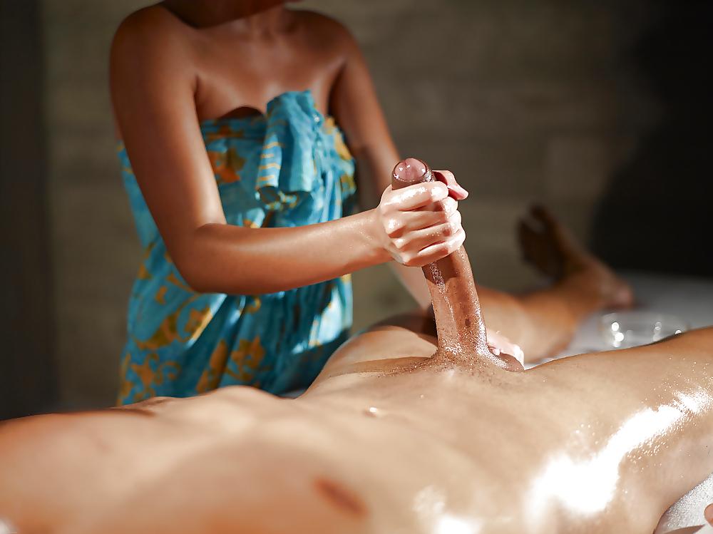 эротический массаж члена