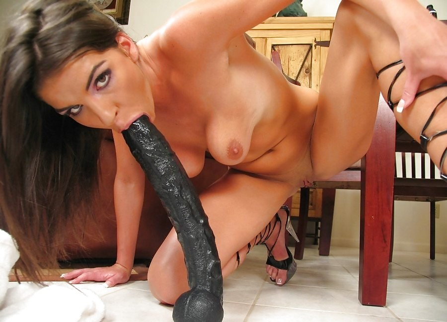Skinny Babe Joselyn Sucks Then Rides Monster Dildo