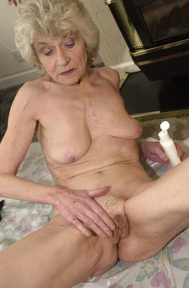 Slim old grandma nude — img 15