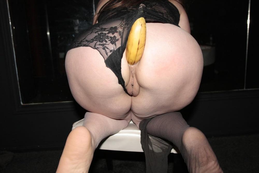 фото тети с бананом в попе частное - 7