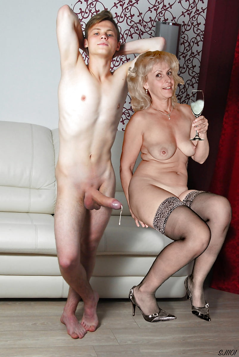 Mom nude with boy watching, black pussy uncensored