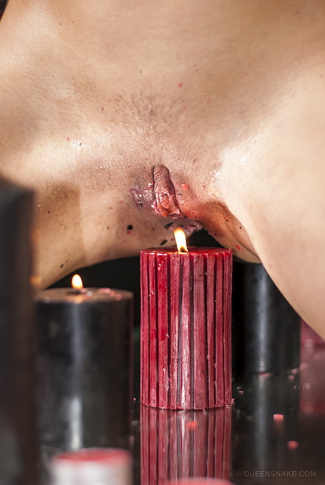 Candle in pussy