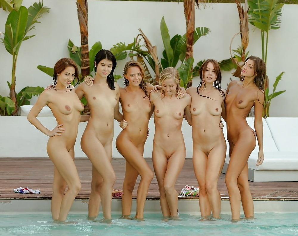 Nude cute group girls — 10