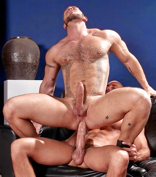 Gay men riding on the cocks