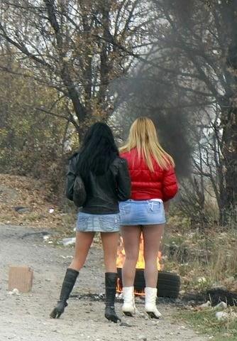 Русский секс с проституткой с дороги