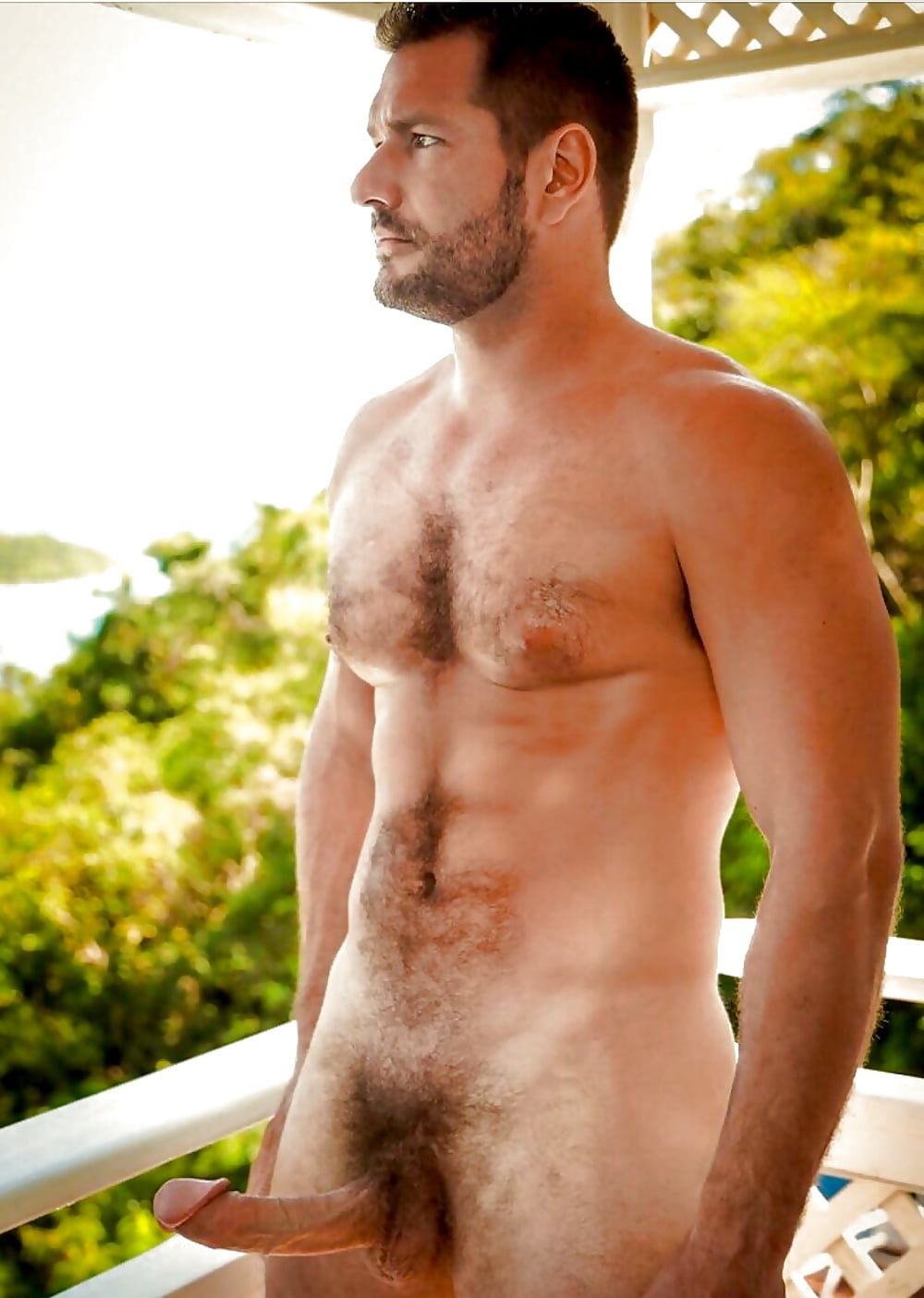 White hairy muscle men naked