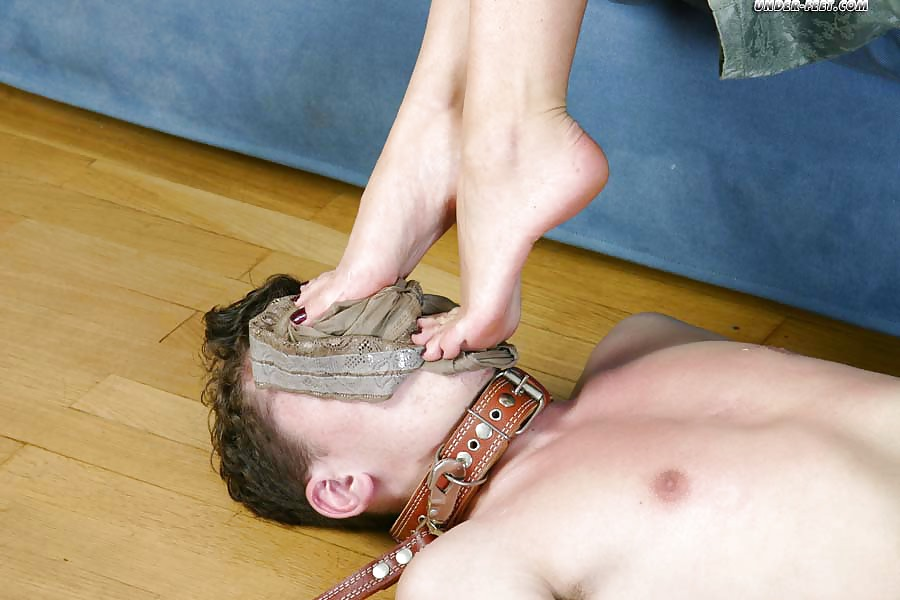 Foot fetish slave humiliation trample
