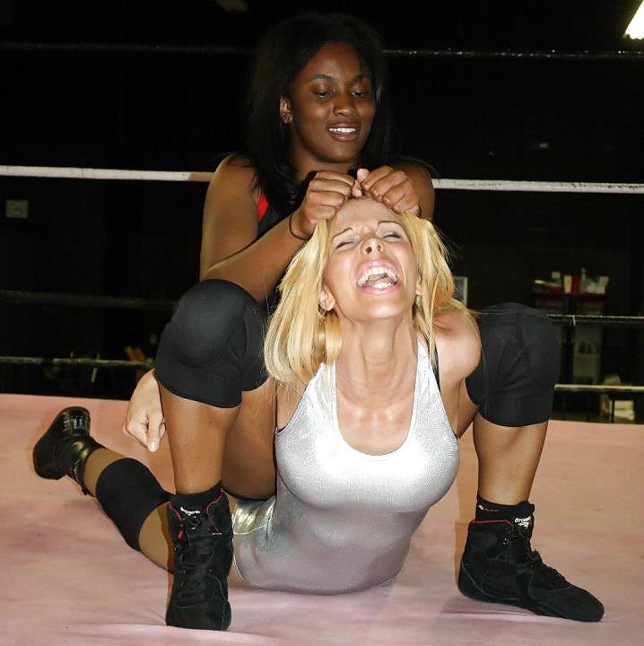 Black girl humiliating white girl, nude girl on man lap