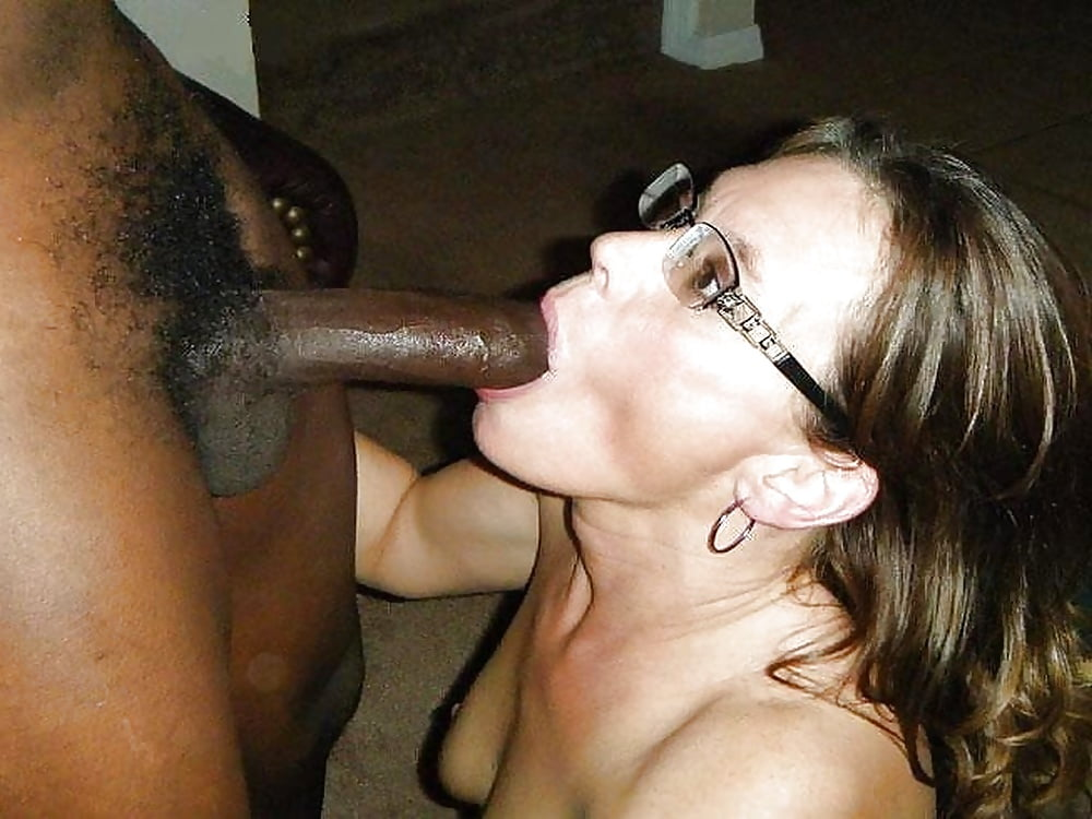 Wife gagging on black cock 13