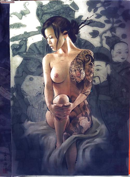 Geisha nude tattoo — 7