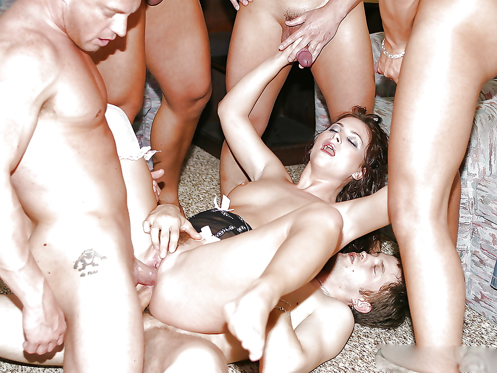 Pussy gang bang and drunk sex party