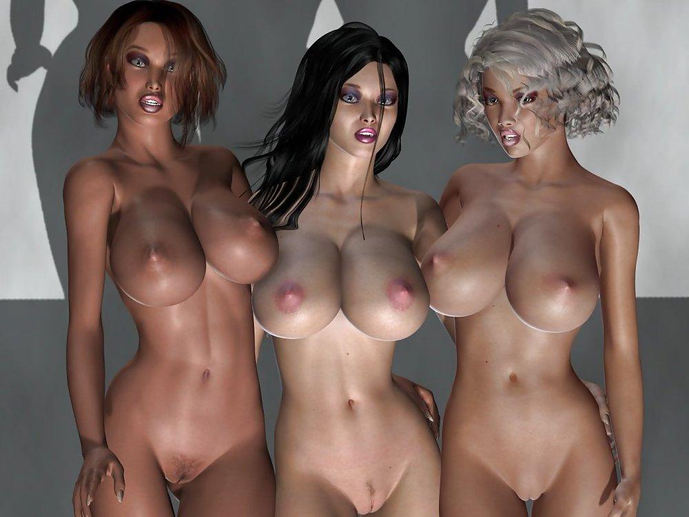 Голые девушки на стереокартинках 6