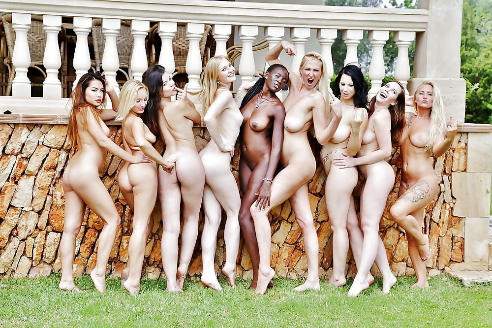 Nude women at play