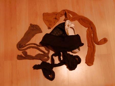 My ex-gf pantyhose , panties and ballerina shoes