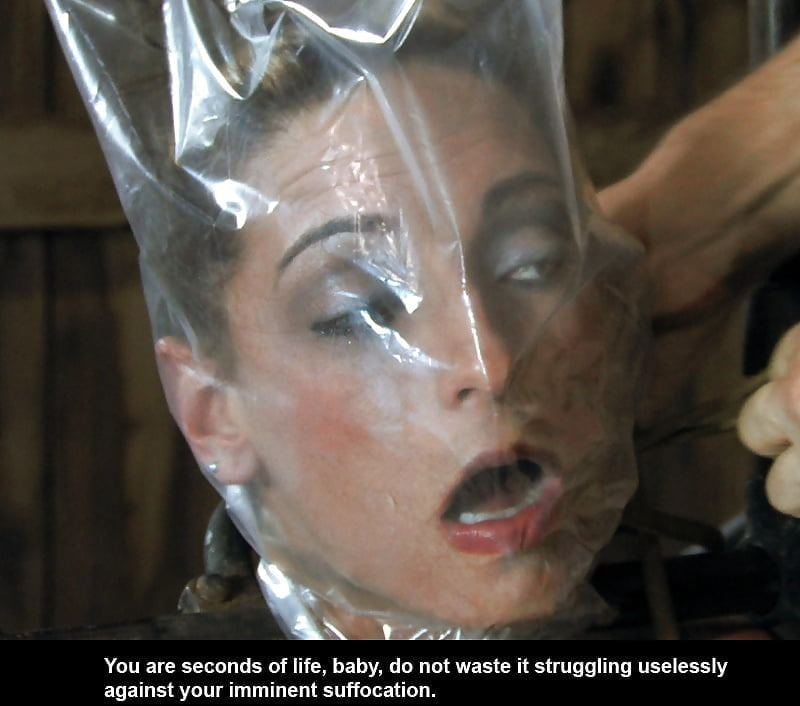 Plastic suffocation fetish — img 5