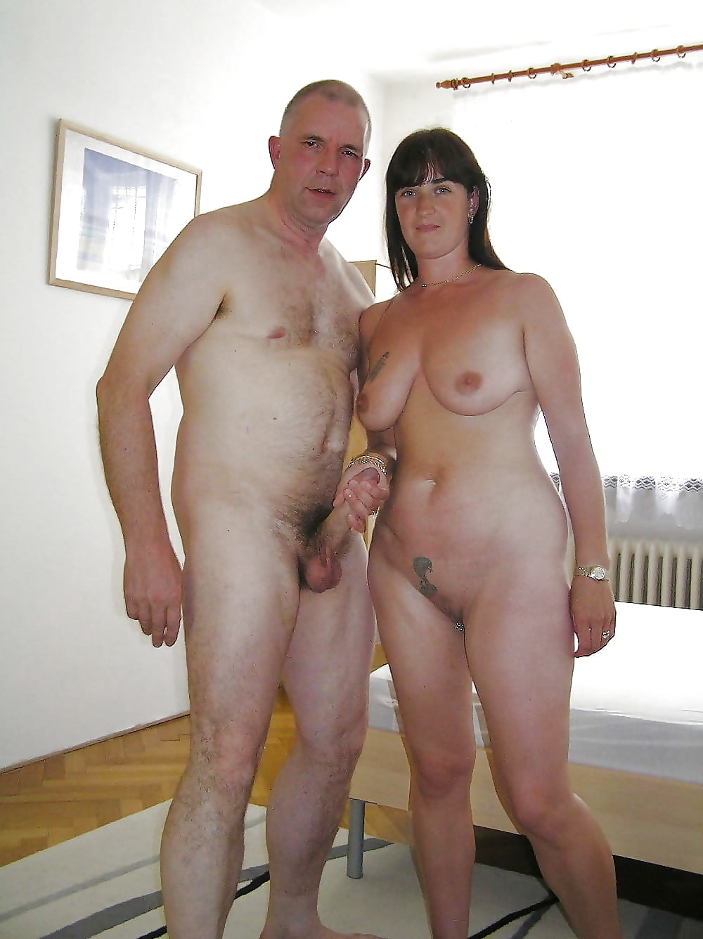 Mature couples posing nude — 3