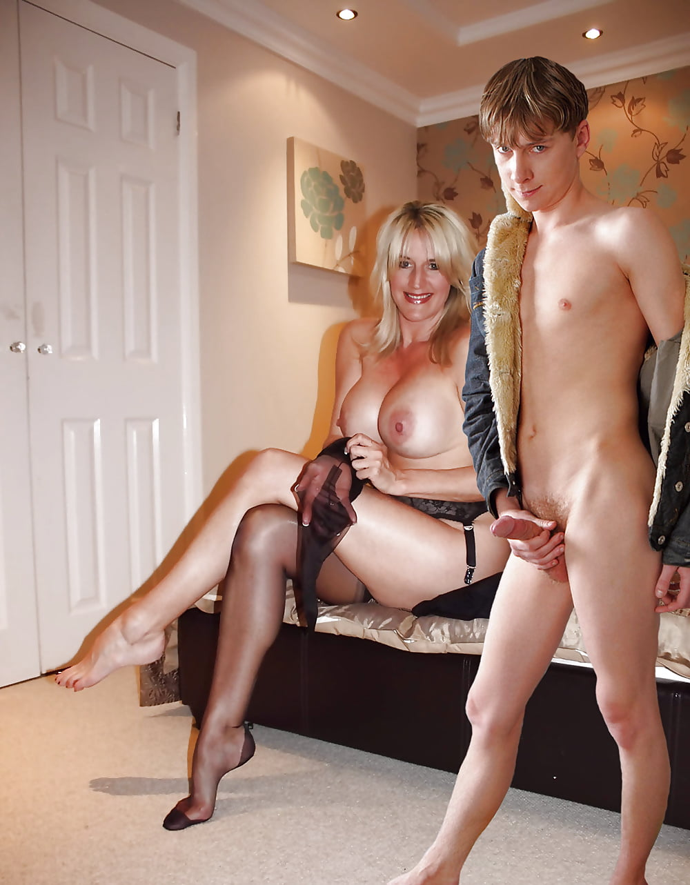 Young Man Caught Milf Step