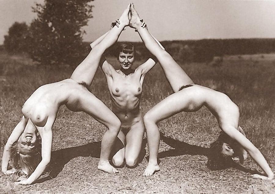 Nude girl doing exercise-7276