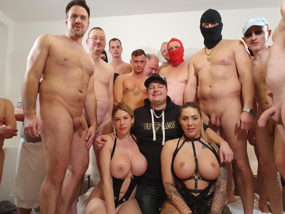 German MIA BLOW and MANA MAGNUM Real Berlin Gangbang Party - 25 Pics