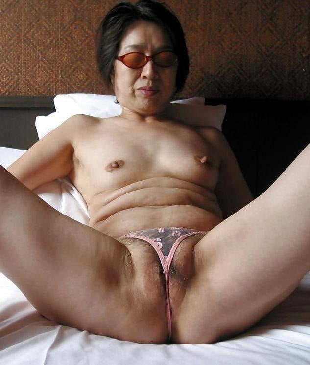 Old chinese granny ass